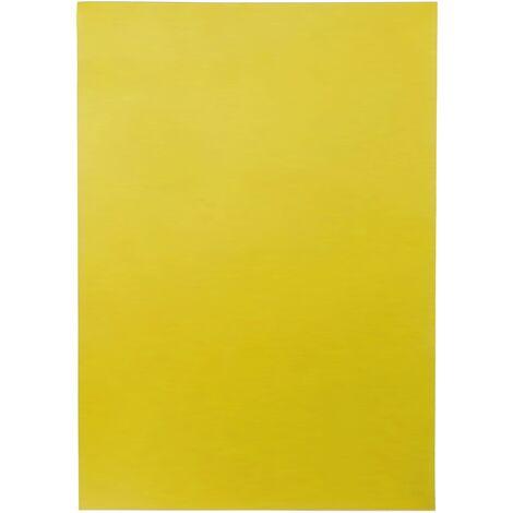 PrimeMatik - Cartel etiqueta magnética flexible amarillo A4 con imán