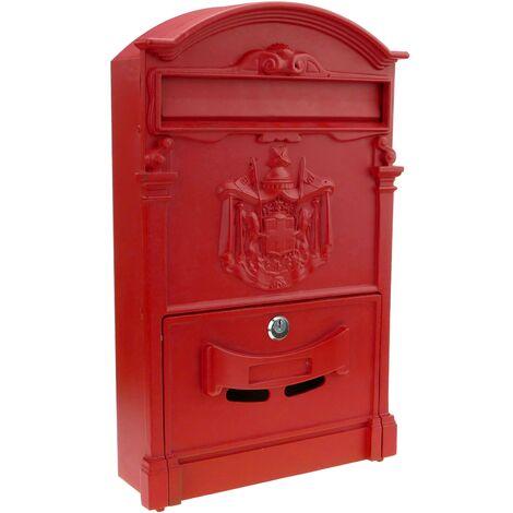 PrimeMatik Cassetta delle Lettere Casella Postale e Posta Metallico di Colore Grigio da Parete 178 x 57 x 259 mm