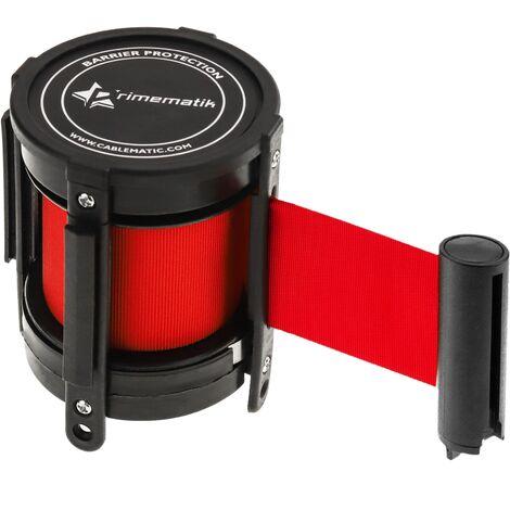 PrimeMatik - Cassette tape replacement retractable red 2m