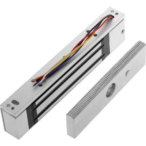 PrimeMatik - Cerradura electro magnética 180 kg con retorno de señal