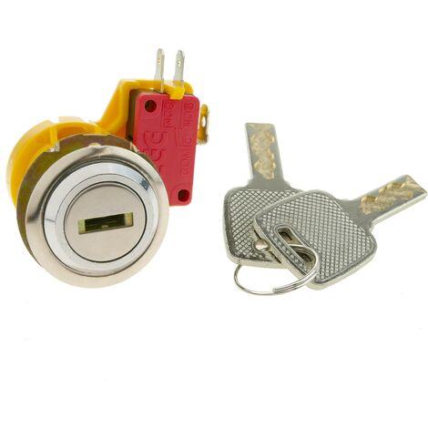 PrimeMatik - Cerradura electrónica de 27mm x M18 con llave plana