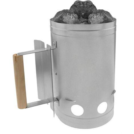 PrimeMatik - Cheminée d'allumage pour barbecue avec briquettes de charbon de bois BBQ