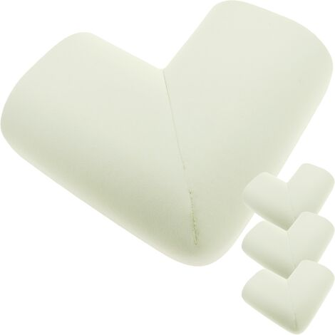 PrimeMatik - Child safety guard for furniture corners or tables 4 beige units