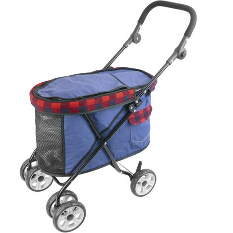 PrimeMatik - Children's pet travel stroller to transport dogs and cats. Pushchair in red color