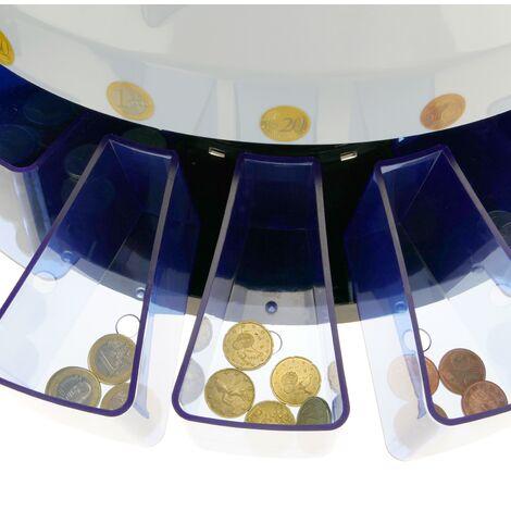 Contamonete Automatico per Euro Macchina contatore e separatore di Monete DB360 Nero PrimeMatik