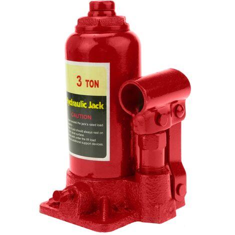 PrimeMatik - Cric hydraulique de bouteille de 3 Tm