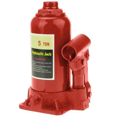 PrimeMatik - Cric hydraulique de bouteille de 5 Tm
