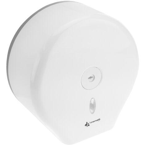 PrimeMatik - Dispensador de papel higiénico. Portarrollos industrial blanco para baño