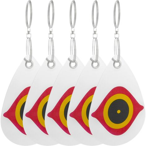 PrimeMatik - Disques réfléchissants répulsifs pour oiseaux Répulseur d'oiseaux Épouvantail 5-pack