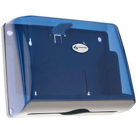 PrimeMatik - Distributeur d'essuie-mains en papier de couleur bleu