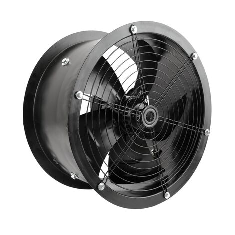 PrimeMatik - Ducting industrial air extractor fan of 400 mm for inline ventilation 1360 rpm round 470x470x210 mm