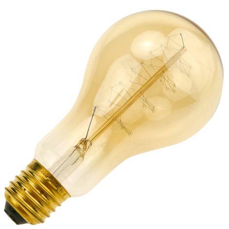 PrimeMatik - Edison ampoule incandescente E27 40W 220VAC 66x130mm