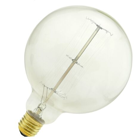 PrimeMatik - Edison bulb filament incandescent 60W 220VAC E27 G125 parallel 125x170mm