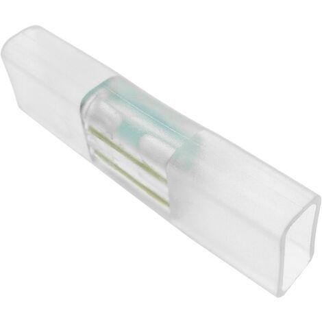PrimeMatik - Empalme conector recto para LED Neón Flex LNF 2 pin 16x8mm