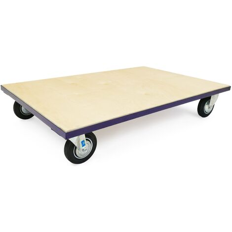 PrimeMatik - Europallet transport roller platform dolly with wheels 1210x810x220 mm 500 kg
