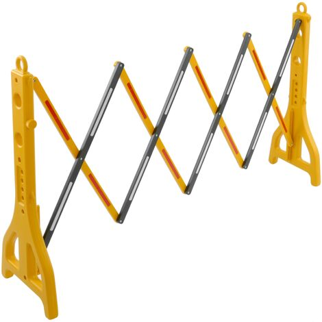 PrimeMatik - Extendable barrier 23-250 cm yellow and black with reflectors