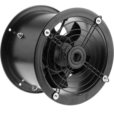 PrimeMatik - Extracteur d'air de tube pour la ventilation industrielle de 200 mm 2550 rpm rond 260x260x180 mm