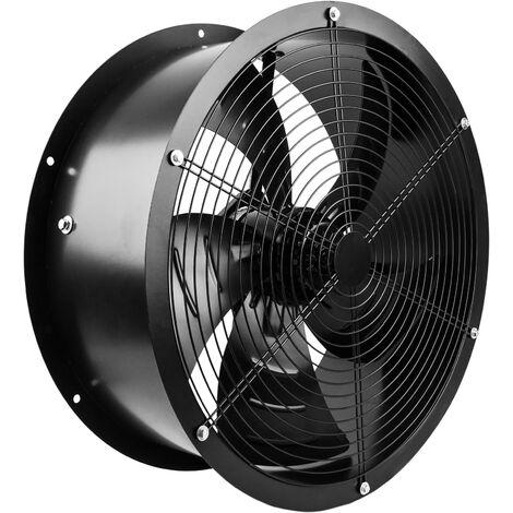 PrimeMatik - Extracteur d'air de tube pour la ventilation industrielle de 600 mm 1350 rpm rond 670x670x280 mm