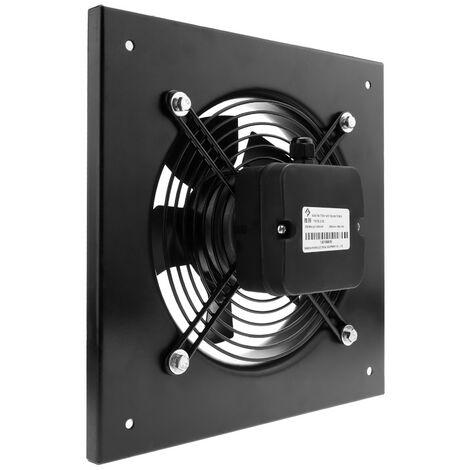 PrimeMatik - Extractor de aire de pared de 300 mm para ventilación industrial 2550 rpm cuadrado 430x430x64 mm
