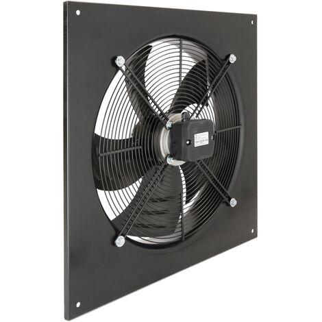 PrimeMatik - Extractor de aire de pared de 600 mm para ventilación industrial 1350 rpm cuadrado 790x790x100 mm
