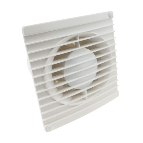 PrimeMatik - Extractor fan of 104mm diameter for cleaning bathroom storage room garage