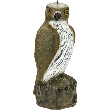 PrimeMatik - Faucon épouvantail avec yeux réfléchissants 40cm