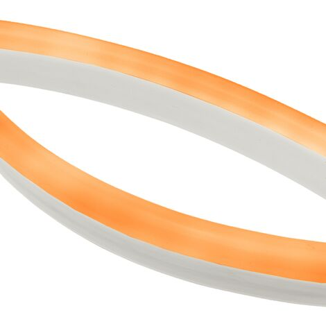 PrimeMatik - Flexible light strip LED Neon Flex LNF 16x8mm 220VAC 5m orange