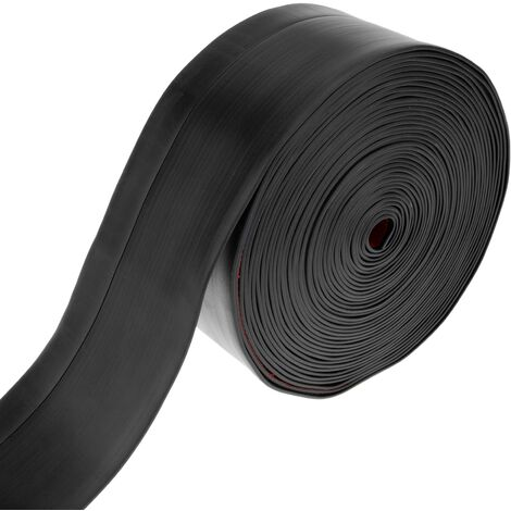 PrimeMatik - Flexible self-adhesive skirting board 50 x 20 mm. Length 10 m black