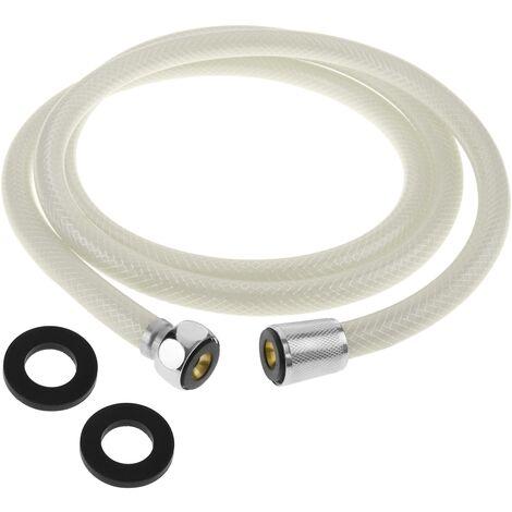 PrimeMatik - Flexo de ducha PVC blanco 1.7 m