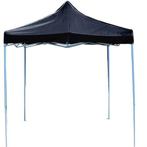PrimeMatik - Folding gazebo tent canopy black 250x250cm