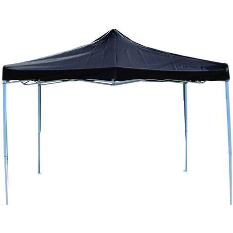 PrimeMatik - Folding gazebo tent canopy black 300x450cm