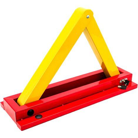 PrimeMatik - Folding parking barrier triangular metal lock