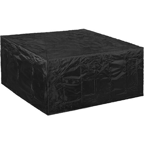 PrimeMatik - Funda protectora impermeable antipolvo para jardín exterior 135x135x75cm