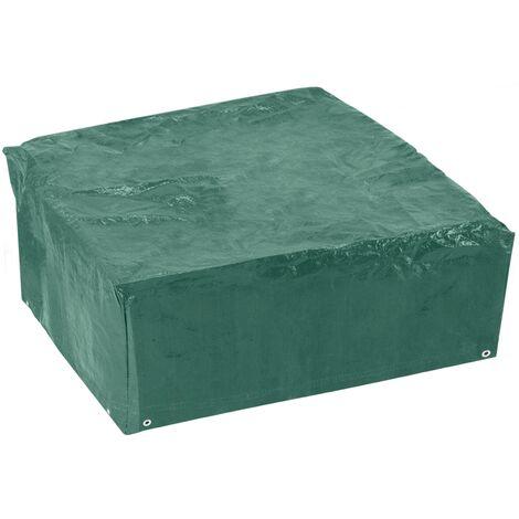 PrimeMatik - Funda protectora impermeable para mesa cuadrada 130x80x130cm