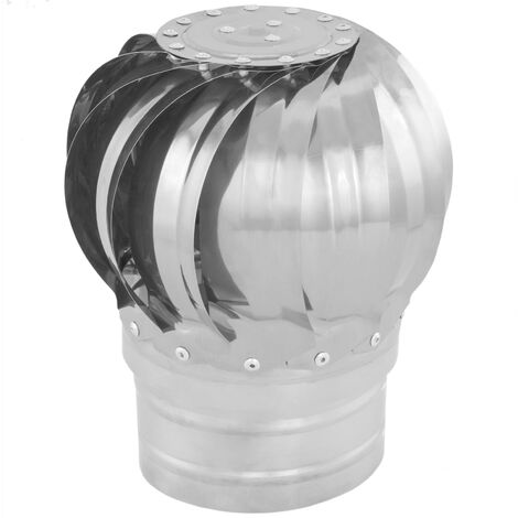PrimeMatik - Galvanized steel rotating chimney cowl cap spinner anti-downdraught 100 mm pipefit