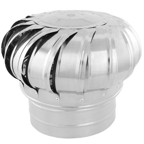 PrimeMatik - Galvanized steel rotating chimney cowl cap spinner anti-downdraught 200 mm pipefit