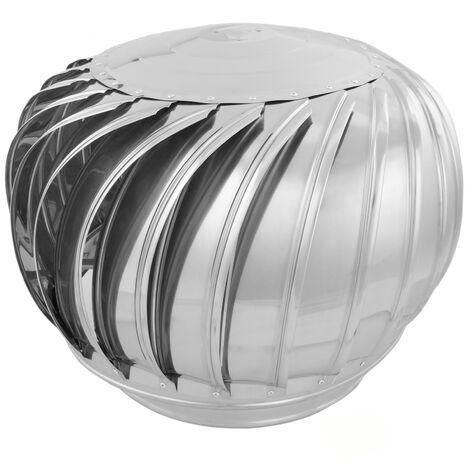 PrimeMatik - Galvanized steel rotating chimney cowl cap spinner anti-downdraught 360 mm pipefit