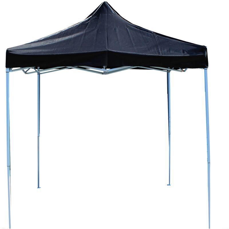 Gazebo pieghevole nero tenda 300x300cm - Primematik