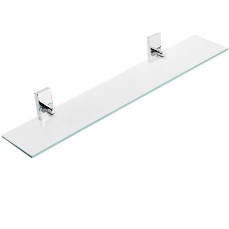 "main image of ""PrimeMatik - Glass bathroom shelf with chrome hardware"""
