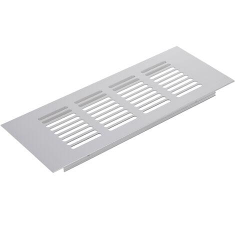 PrimeMatik - Grille de ventilation pour plinthes base en aluminium 200x80mm