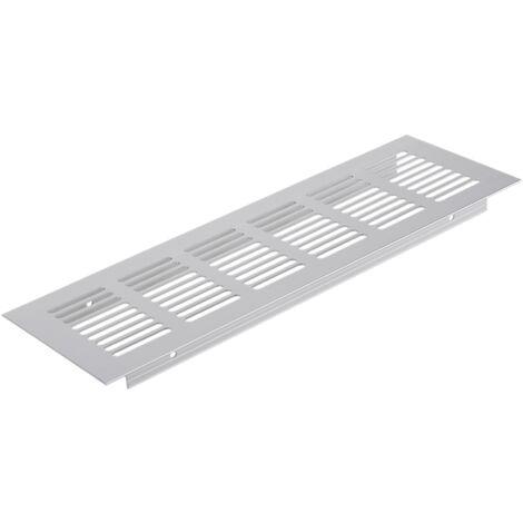 PrimeMatik - Grille de ventilation pour plinthes base en aluminium 250x80mm