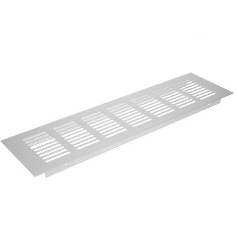 PrimeMatik - Grille de ventilation pour plinthes base en aluminium 300x80mm