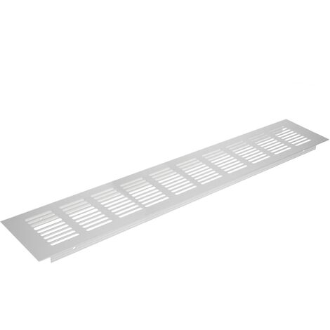 PrimeMatik - Grille de ventilation pour plinthes base en aluminium 400x80mm