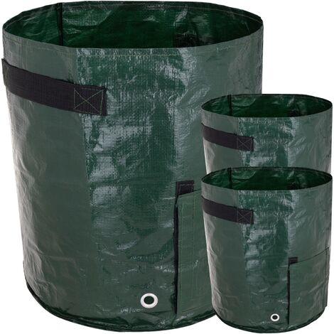 PrimeMatik - Grow bags for garden 30 x 35 cm 3 units