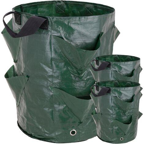 PrimeMatik - Grow bags for garden 35 x 45 cm 3 units