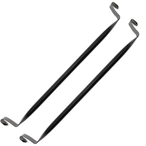 PrimeMatik - Hang bar 35cm black for cube modular organizer closet 2-pack