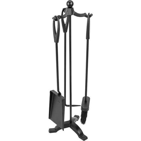 PrimeMatik - Juego de 3 accesorios para chimenea de hierro fundido