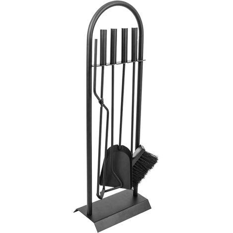 PrimeMatik - Juego de 4 accesorios para chimenea de hierro fundido