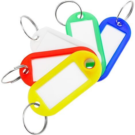 PrimeMatik - Keychain label tag identifier ID multicolor for keys 100 units