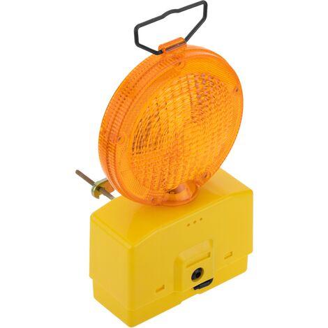 PrimeMatik - Lámpara con luz de señalización intermitente para suelo o colgar con batería 4R25